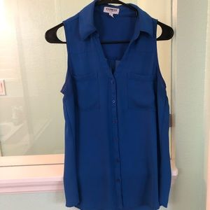 Small Blue Express Blouse